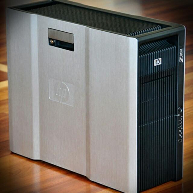 Сервер, Workstation, HP z800, 2х Intel Xeon X5550, 16 потоков по 2,66 GHz, 8 Гб ОЗУ, HDD 0 Гб, видео 256 Мб