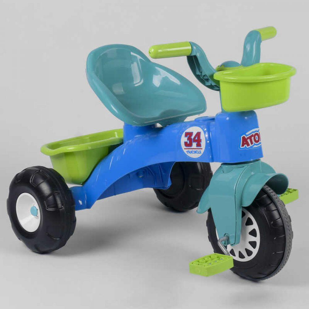 Велосипед детский трехколесный Pilsan 07-169 с пластиковыми колесами и прорезиненной накладкой