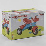 Велосипед детский трехколесный Pilsan 07-169 с пластиковыми колесами и прорезиненной накладкой, фото 2