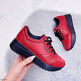 Женские кроссовки красные натуральная кожа, фото 8