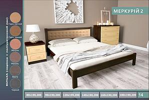 """Кровать """"Меркурій 2"""" из натурального дерева (сосна, ольха)"""