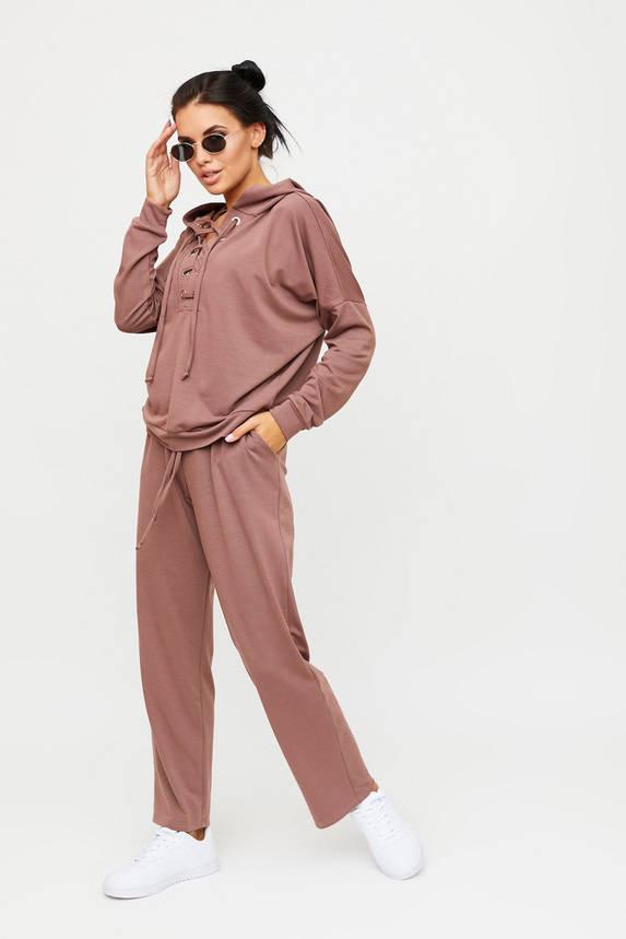 Женский спортивный костюм цвета капучино, фото 2