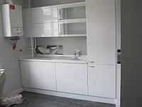 Кухня на заказ крашенный МДФ белый глянец, фото 1