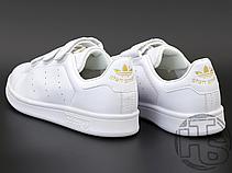 Женские кроссовки Adidas Stan Smith Strap CF White Gold S75188, фото 3
