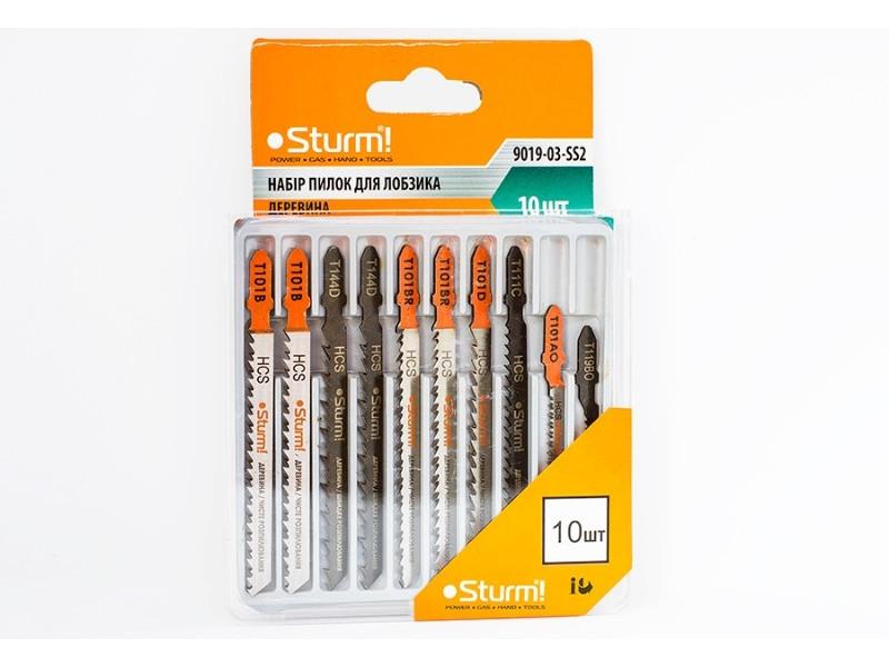 Набір пилок для електролобзика по дереву (10шт) Sturm 9019-03-SS2