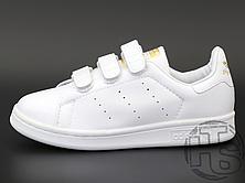 Женские кроссовки Adidas Stan Smith Strap CF White Gold S75188, фото 2
