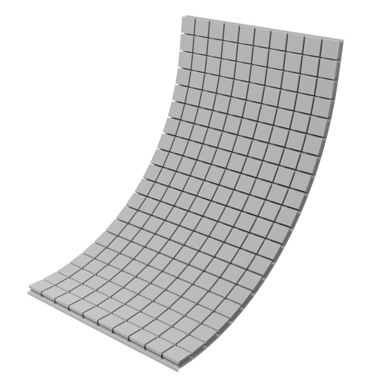 Панель з акустичного поролону Ecosound Tetras Gray 100x200 см, 70 мм, сірий