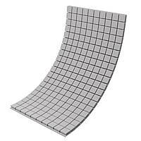 Панель з акустичного поролону Ecosound Tetras Gray 100x200 см, 70 мм, сірий, фото 1