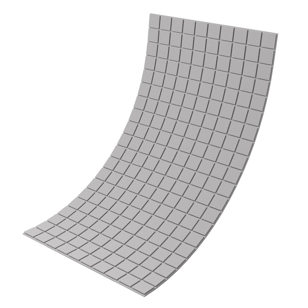 Панель з акустичного поролону Ecosound Tetras Gray 100x200 см, 20 мм, сірий