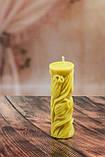 """Свічка воскова з натурального бджолиного воску """"Тюльпан"""" Zigrivay (12х5см) (10030), фото 2"""