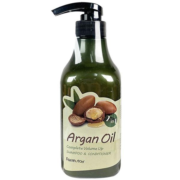 Шампунь-кондиционер с aргановым маслом FarmStay Argan Oil Complete Volume Up Shampoo & Conditioner, 530мл