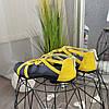 Босоножки женские кожаные на низком ходу, цвет желтый, фото 3