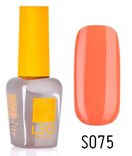 Гель-лак для нігтів LEO seasons №075 Щільний морквяний (емаль) 9 мл