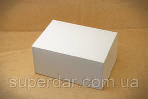 Коробка для шматочків тортів, тістечок, 120х180х80 мм, біла СД01-03
