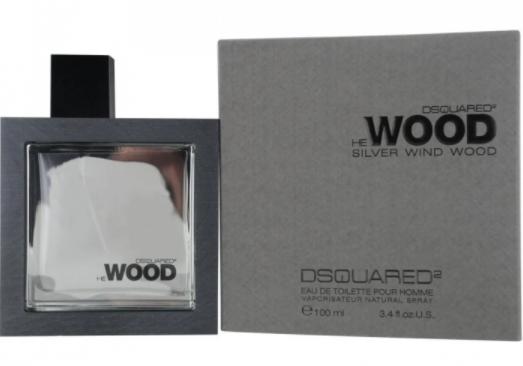 Мужская туалетная вода DSQUARED2 He Wood Silver Wind Wood, 100 мл