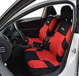 Повний комплект Накидки на сидіння авто чохли універсальні Автонакидки на сидіння в салон машини авто-майки, фото 4