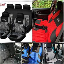 Повний комплект Накидки на сидіння авто чохли універсальні Автонакидки на сидіння в салон машини авто-майки