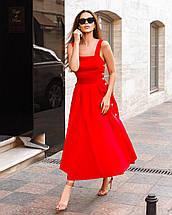 Сарафан жіночий коттоновый на гудзиках річний AniTi 413, червоний, фото 2