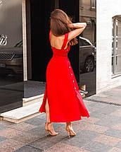 Сарафан жіночий коттоновый на гудзиках річний AniTi 413, червоний, фото 3