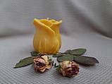 """Свеча восковая из натурального пчелиного воска """"Роза"""" Zigrivay (6х5см) (10035), фото 3"""