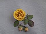"""Свеча восковая из натурального пчелиного воска """"Роза"""" Zigrivay (6х5см) (10035), фото 4"""