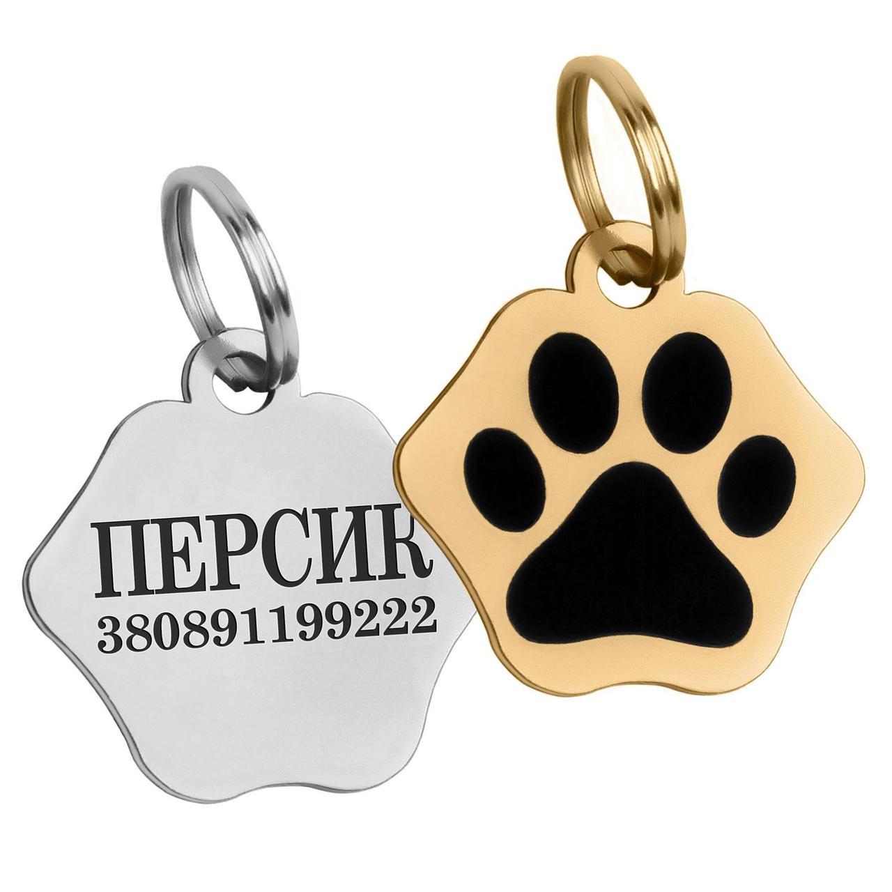 Адресник для Котов Тип 3 Сталь