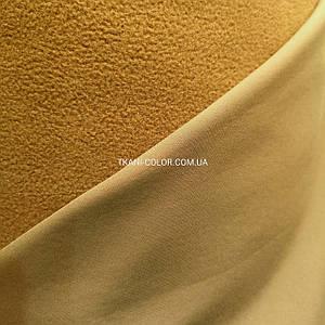 Ткань плащевка софтшелл (на флисе) койот