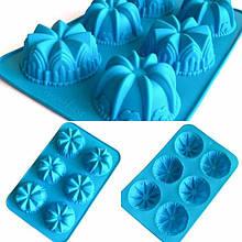 Силиконовые формочки для пироженных, кексов, маффинов, капкейков, тортов, 26х17 см.