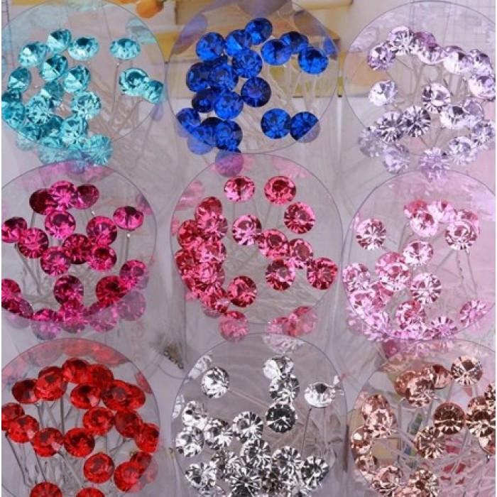 """Шпильки со стразами """"Star Crystals"""", набор 5 шт"""