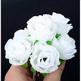 """Шпильки для волосся з квітками пионий, соняшники """"Flower Boom"""", 5 шт, фото 9"""