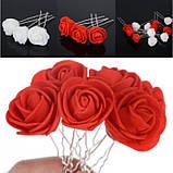"""Шпильки для волосся з квітами троянди """"Tender Rose"""", 6 шт, фото 9"""