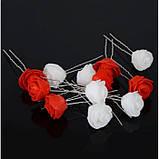"""Шпильки для волосся з квітами троянди """"Tender Rose"""", 6 шт, фото 10"""