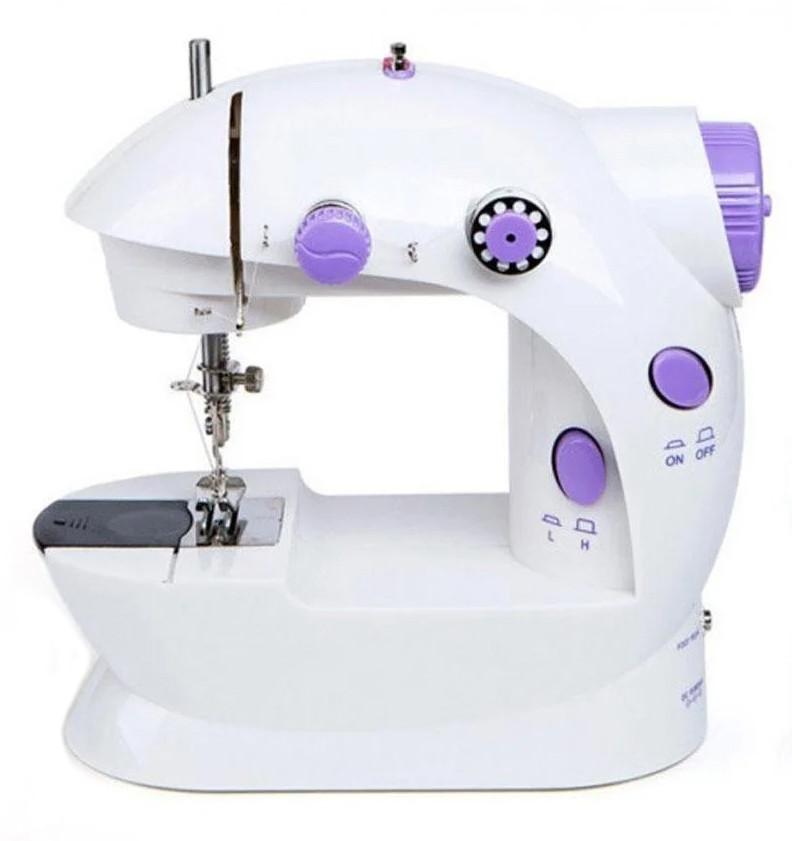 Портативная бытовая мини швейная машинка для начинающих SM-202 маленькая, для дома, электрическая