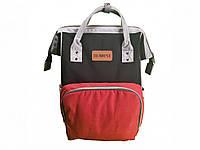 Рюкзак для мам КРАСНО-ЧЕРНО-СЕРЫЙ, фото 1
