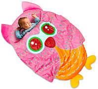 Детский спальный мешок для дома Сова розовая (102*76 см) спальник для детей, дитячий спальний мішок, фото 1