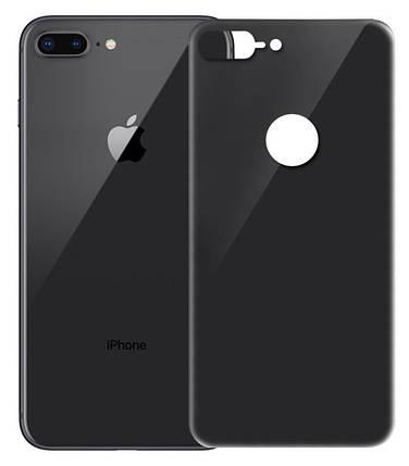 Защитное стекло iPhone 8 Plus (0.3 мм, 4D, черное) Люкс на задню сторону, фото 2