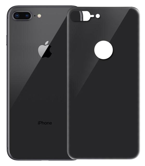 Защитное стекло iPhone 8 Plus (0.3 мм, 4D, черное) Люкс на задню сторону