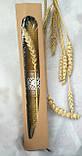 Восковая свеча с вощины с пшеницей Zigrivay (26х3,5см) (10037), фото 3