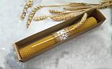 Восковая свеча с вощины с пшеницей Zigrivay (26х3,5см) (10037), фото 4