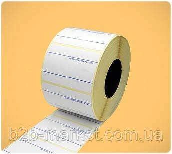 Термоетикетка 58*40 мм (630 етикеток), при принт, (синя розмітка)