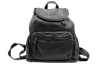 Стильный женский городской рюкзак среднего размера из мягкого кож-зама.