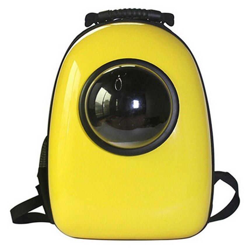 Космический рюкзак-иллюминатор переноска, пластик, 32х42х29 см, желтый