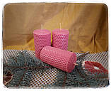 """Набор восковых свечей с цветной вощины """"лесной"""" Zigrivay (8,5х4,5см) 4 шт (10038), фото 3"""