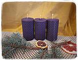 """Набор восковых свечей с цветной вощины """"лесной"""" Zigrivay (8,5х4,5см) 4 шт (10038), фото 5"""