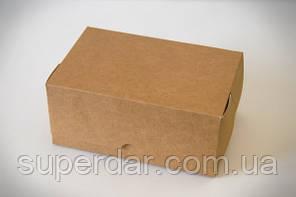 Упаковка для шматочків торта, тістечок та інших виробів, 120х180х80 мм, крафт СД02-03