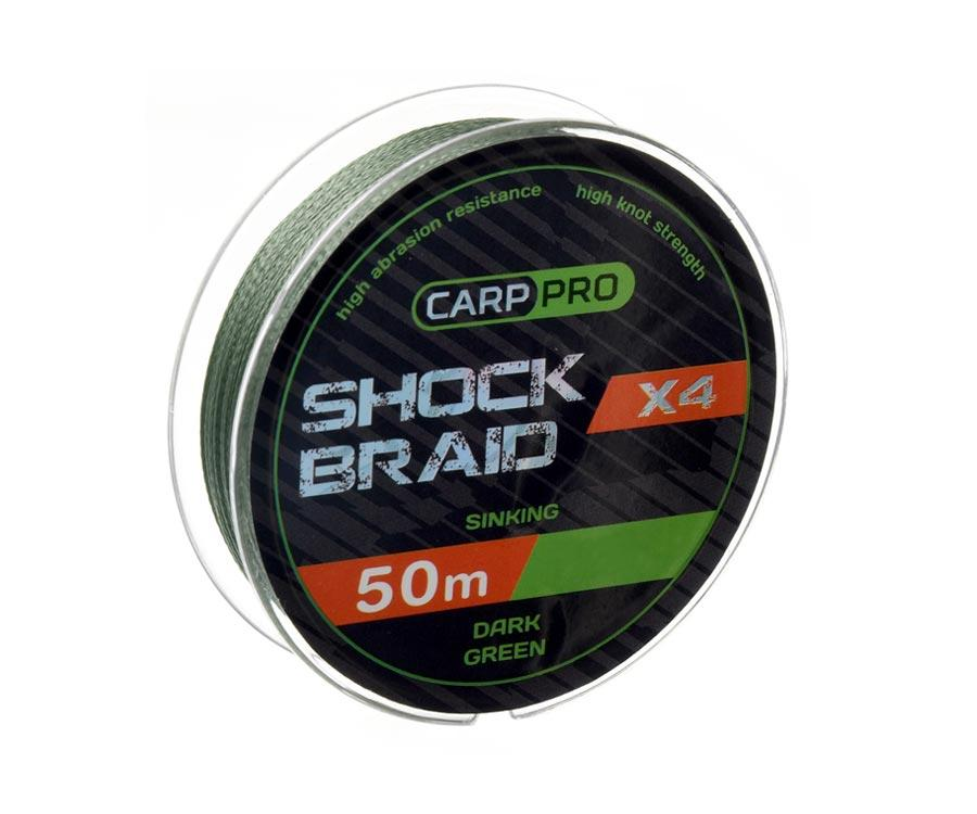 Шок-лидер Carp Pro Shock Braid PE X4 0.16мм 50м Dark Green
