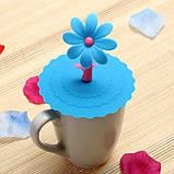 Крышка вакуумная силиконовая для чашки d 11 см Цветок, фото 4