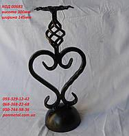 """Подсвечник кованый """"Сердце"""" на одну свечу, фото 1"""
