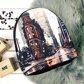 Рюкзак Moderika Arco черный с рисунком Город (77702) 1252635783