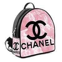 Рюкзак Moderika Arco черный с рисунком Шанель (77725)